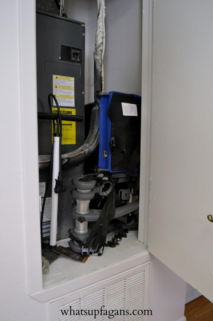 Organization - Small Apartment Utility Closet Use