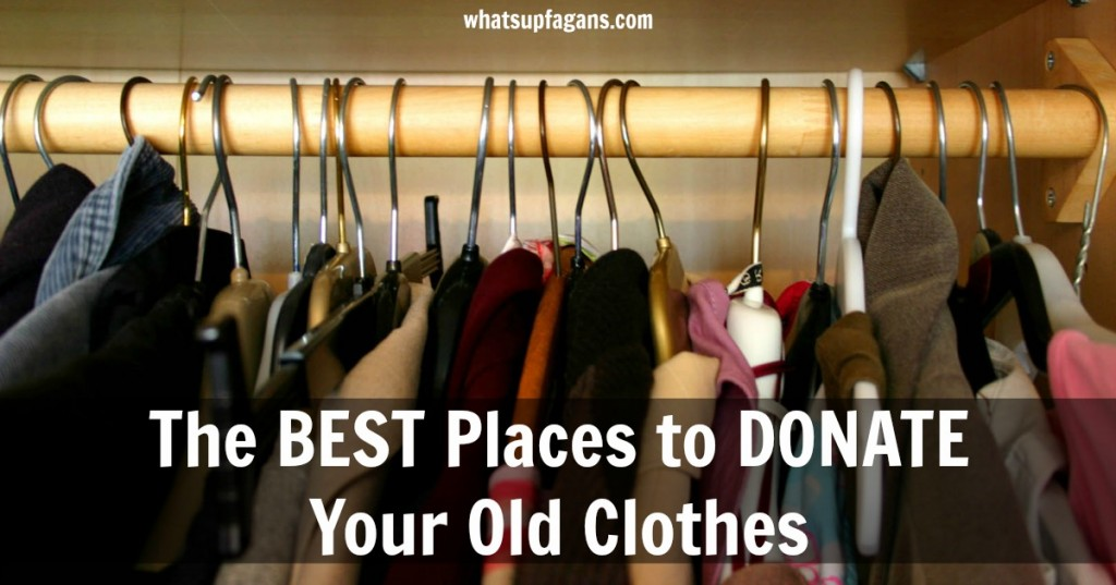 This is a good list to have for the next time I'm cleaning out the closets and doing some organization. I like having more options of great charity and causes to donate my clothes to (or where I can sell them).