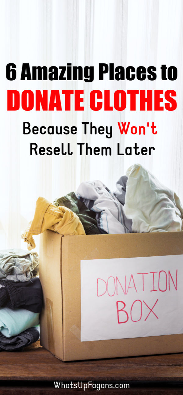 Looking for the best place to donate clothes? Keep reading to discover several great options for places to donate clothes that don't resell! Avoid Goodwill and the Salvation army and give to others who really will use your old clothes rather than having them end up in the dump. #charity #donations #clothing #clothingdrive #coatdrive #CoatNotes #donation #clothes #givingback