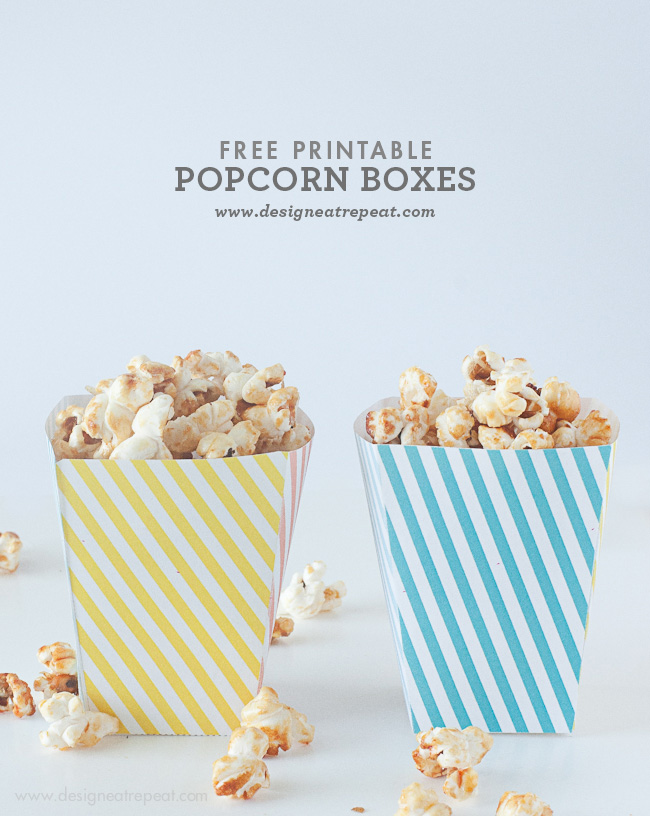 photo regarding Popcorn Printable named 12 No cost Popcorn Box Templates for Relatives Video Night time