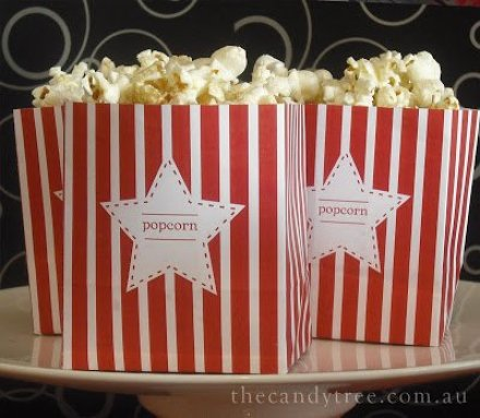 Popcorn Bag tutorial