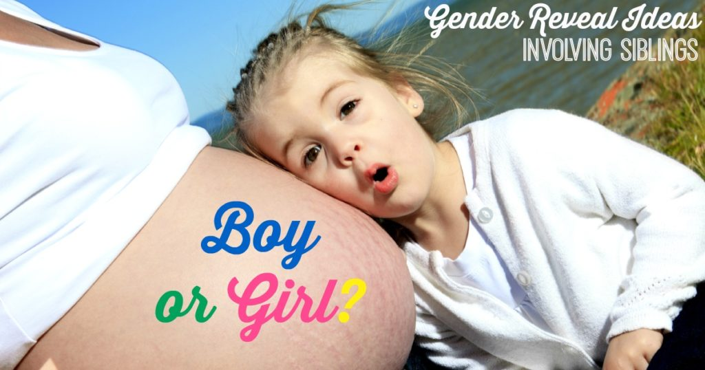 Baby Gender Reveal with Siblings - Ideas for involving the kids in the announcement!