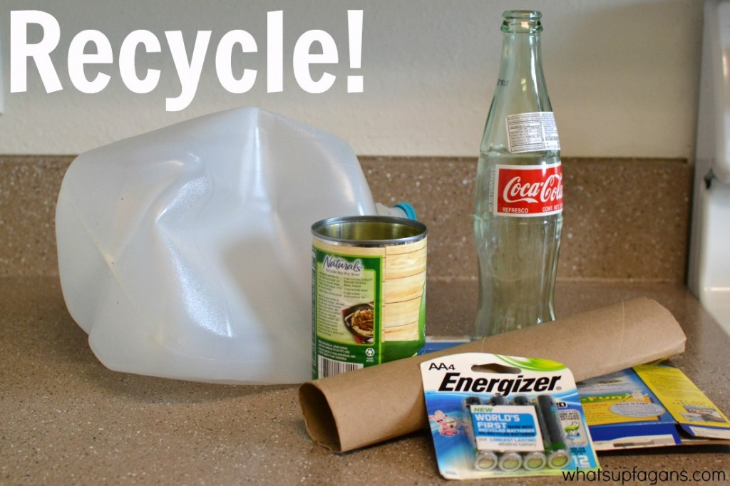 Recycle to live a greener life - Just one of 3 really easy ways to live a more eco-friendly life.