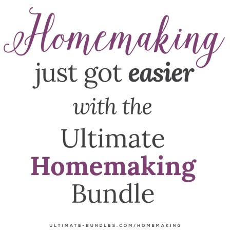 This is a limited time deal, but it's 100 awesome homemaking resources on topics like marriage, finances, meal planning, homeschooling, working from home, motherhood, DIY, Decor, and so much more. And it's all just for $29.97!! It's 30 CENTS per resource and there's even a 30-Day money-back guarantee! Spread the word cause it ends Monday, April 27!