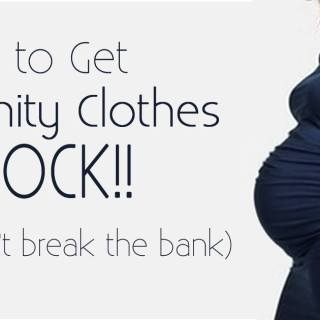 An awesome list of places of where to get maternity clothes that rock but don't cost very much! Great tips on where to find clothes for pregnant women free, secondhand, or new but inexpensively, which is perfect since pregnancy is so short!