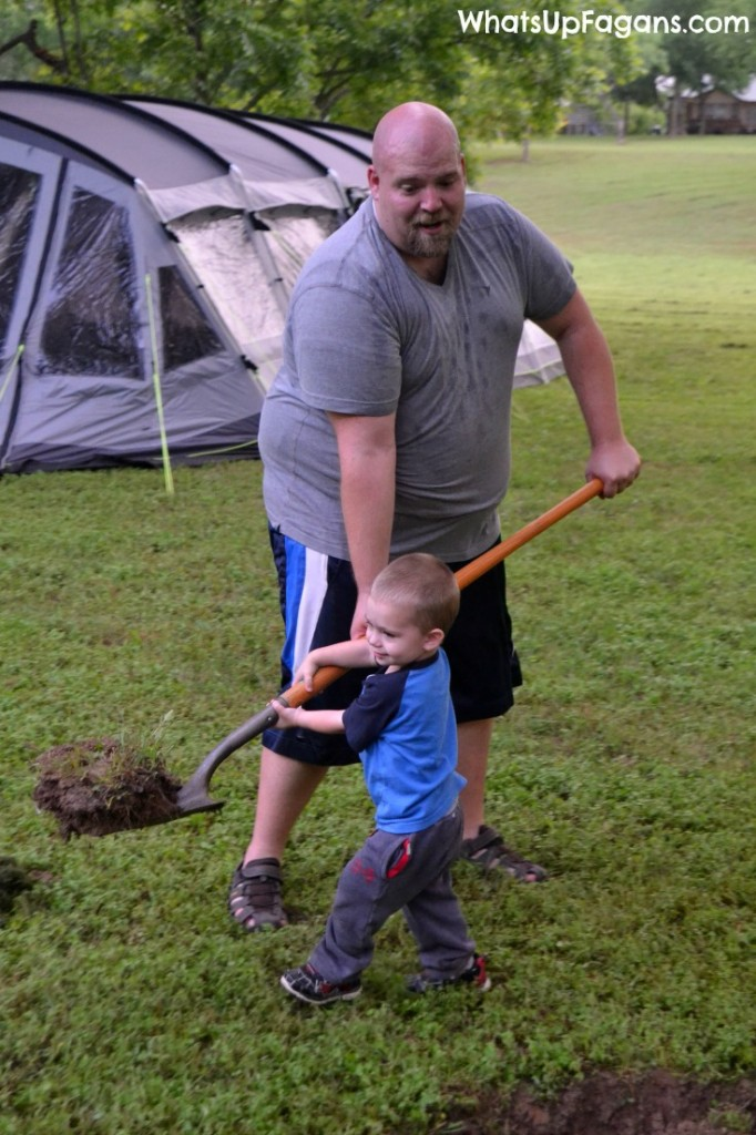 Camping with kids is good for them because it helps them build endurance as they learn how to rough it in nature.