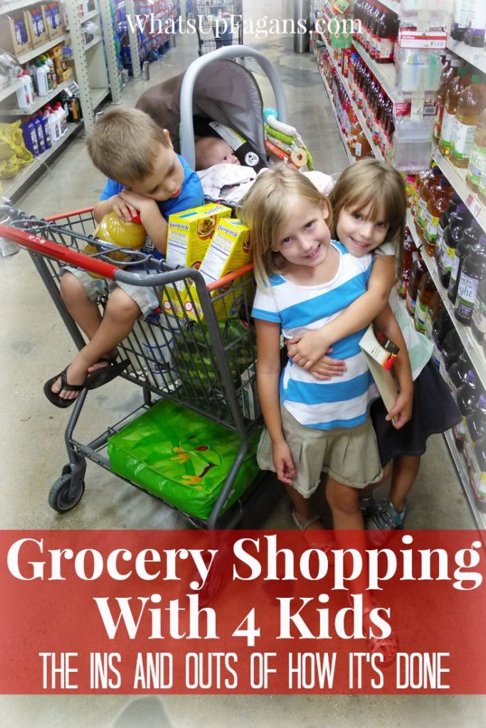 In case I ever need to know how to wrangle four kids at the grocery store as a mom. Good parenting tips.