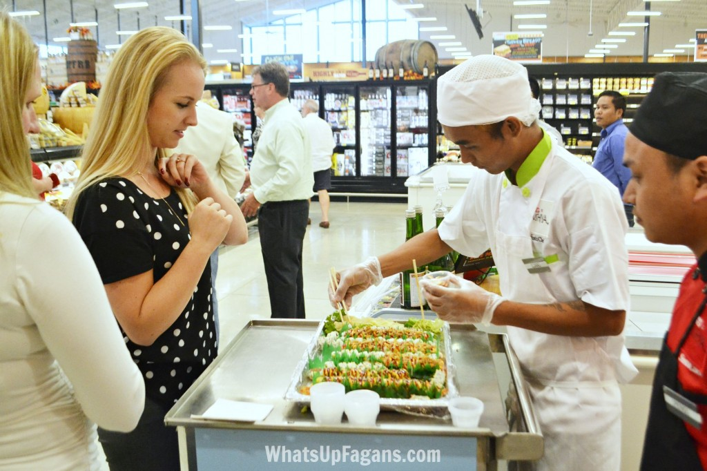 One of the best things about HEB Wimberely are the free sushi samples!