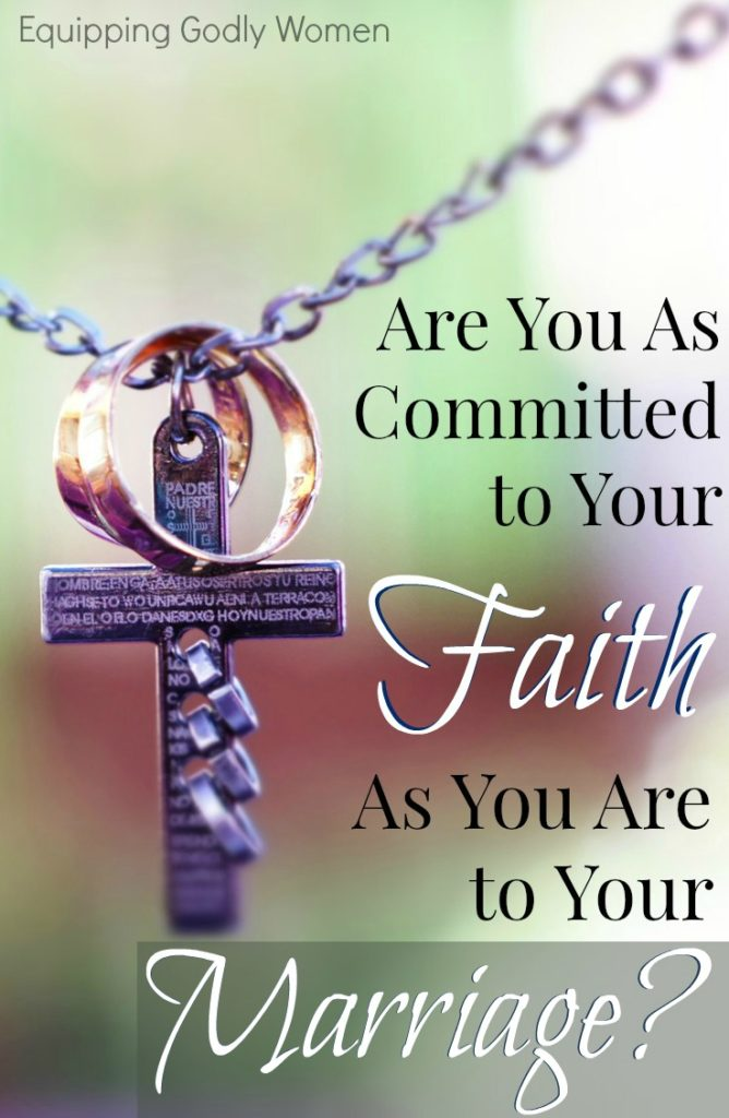 Yes! I so needed this reminder about being committed to my husband and committed to my God and my faith. Sometimes it's easier to be a good wife than a great Christian.