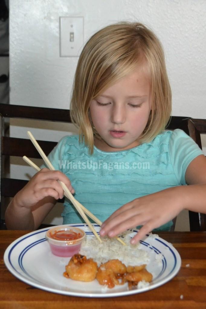 using chopsticks