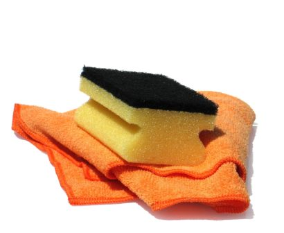 cleaning tools - sponges and cloths and rags