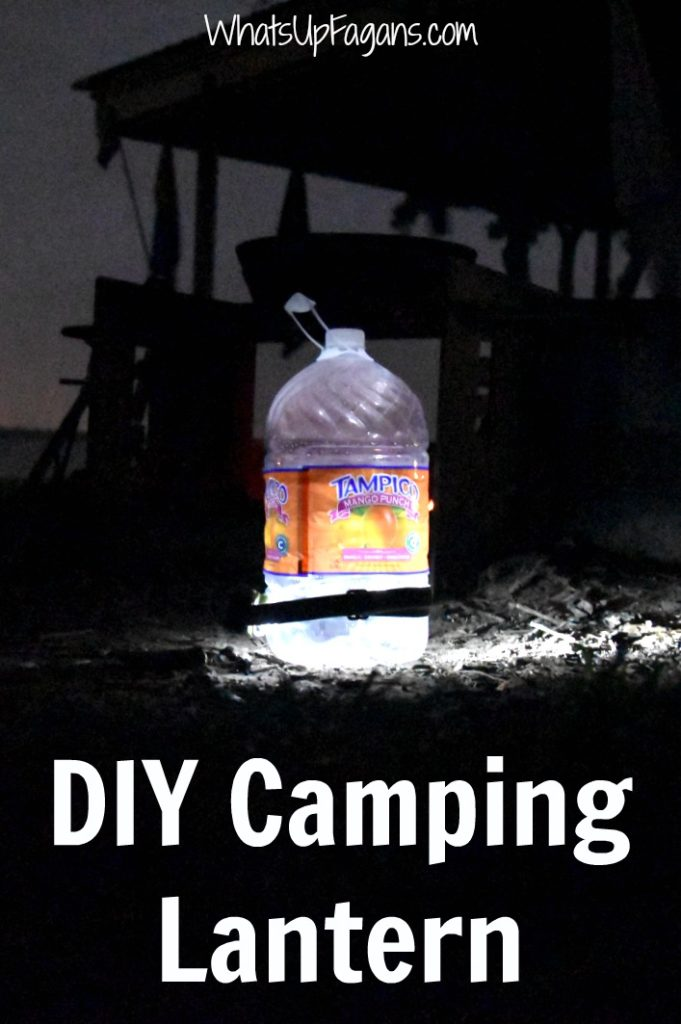 How to make a DIY camping lantern. Very cool and easy camping hack tip!