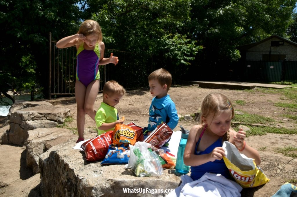 take to river with kids - food