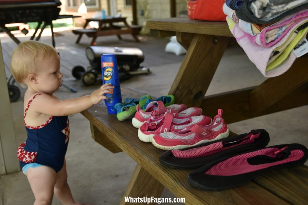 what to take to river with kids - aqua socks
