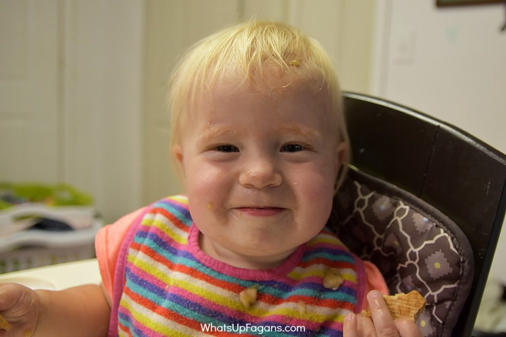 Messy baby face - big family realities