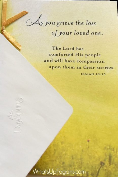 grieve sympathy card - dayspring christian celebrations - gifts for loss of loved one