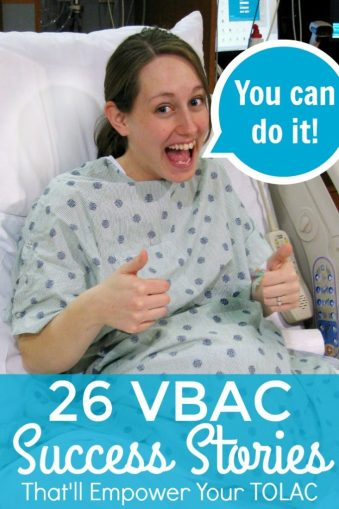 Great list of VBAC success stories! And it's broken down by whether or not they were induced, had an epidural, were home births, were after 40 weeks, and so on! So helpful for pregnant women who want to have a vaginal birth after a C-section!
