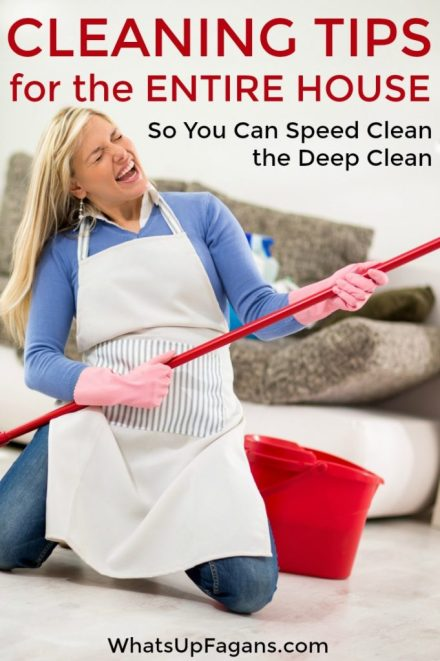 Cleaning tips so you know how to clean your house like a pro! It's speed cleaning the deep cleaning in Spring (or whenever).