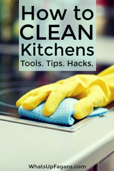 How to clean a kitchen - Best kitchen cleaning tips hacks and tools!