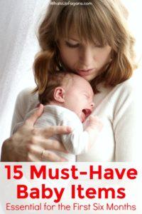 Must-have baby items, baby registry list, newborn essentials, what you need for baby, baby checklist, 0-6 months essentials.