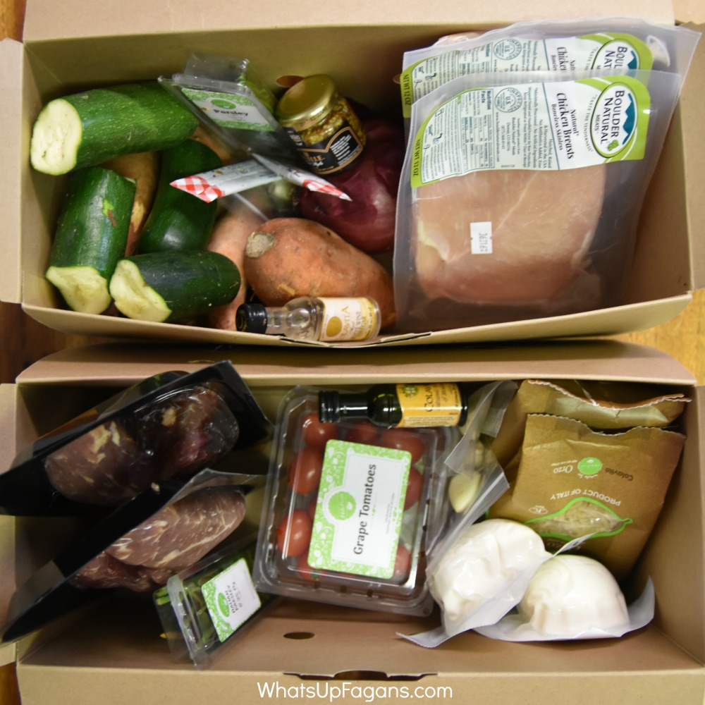 Hello Fresh Meal Boxes - Produce and Proteins