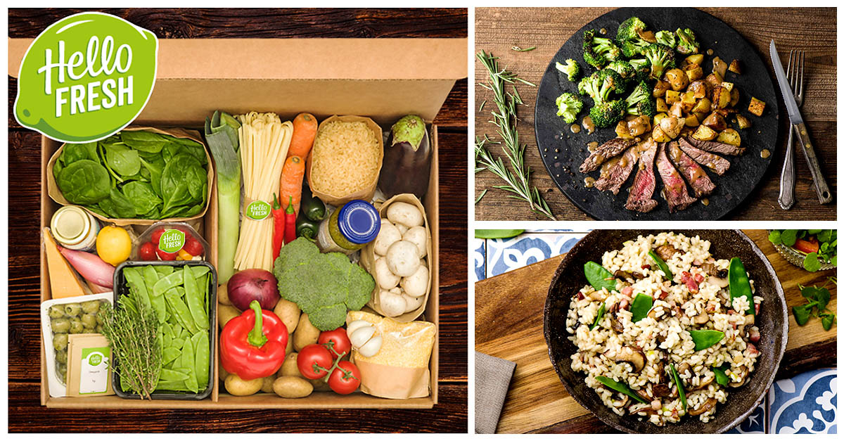 Hello Fresh Meal Services in a box delivered to home