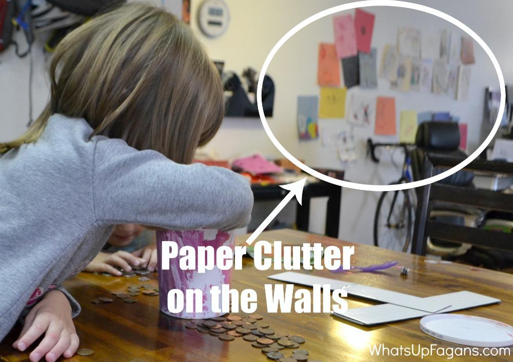Kids Paper Clutter - Artwork on the Walls