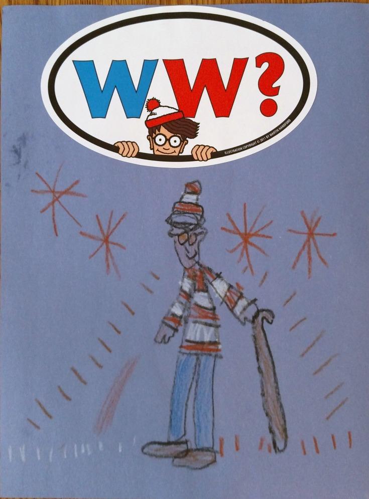 Lisa Art - Where's Waldo Drawing Art
