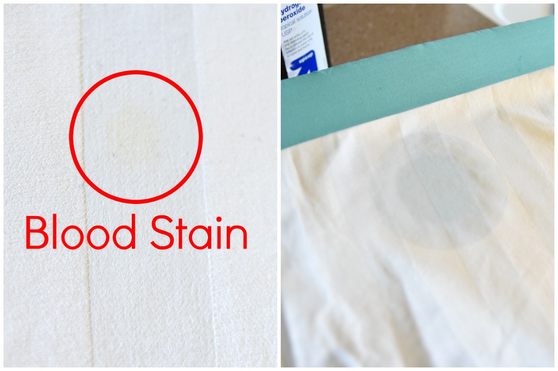 blood stain removal method with hydrogen peroxide - hot iron laundry stain removal - how to get rid of blood stain on fabric, clothes, sheets with peroxide, cleaning tutorial tip