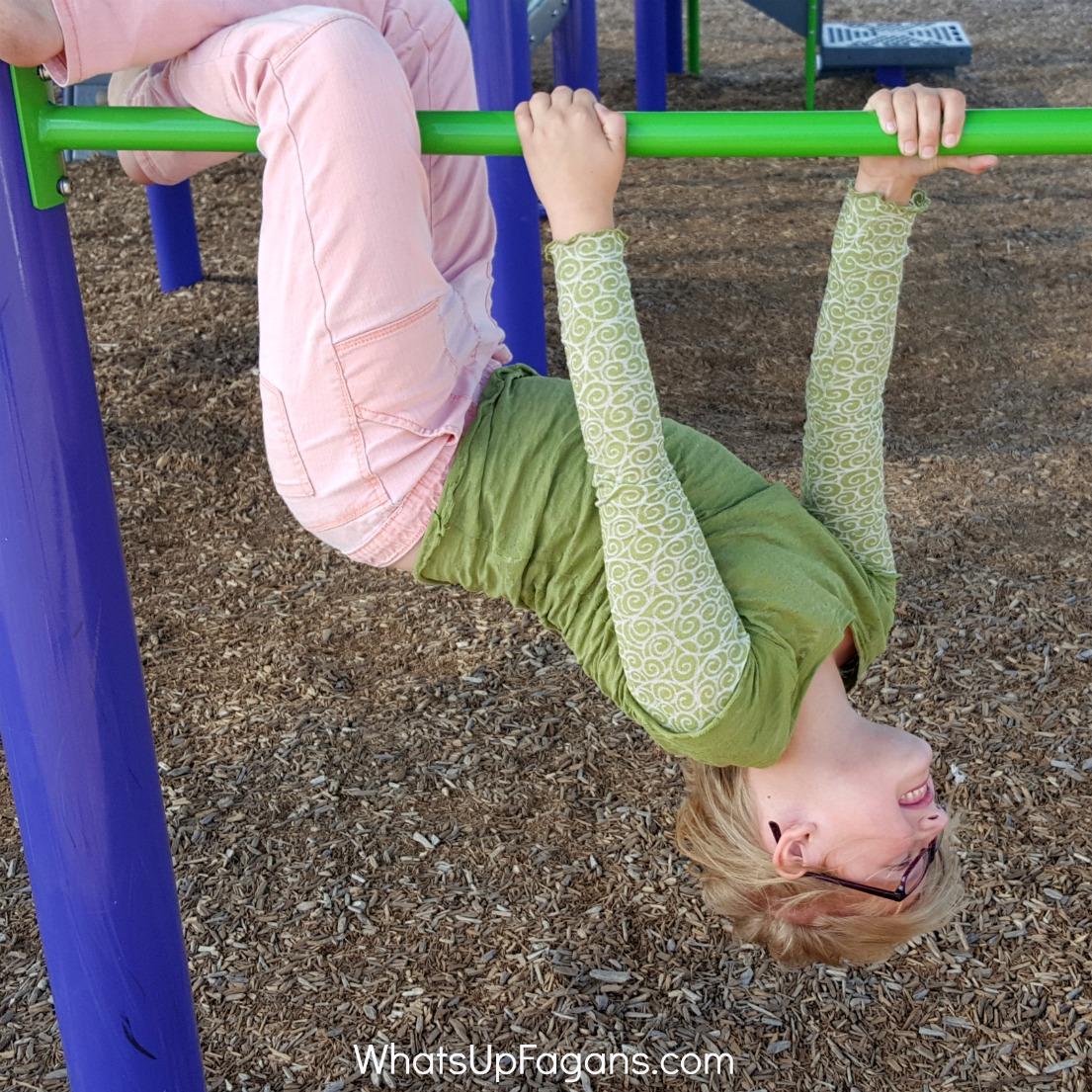 playing on playground - my kid has guts
