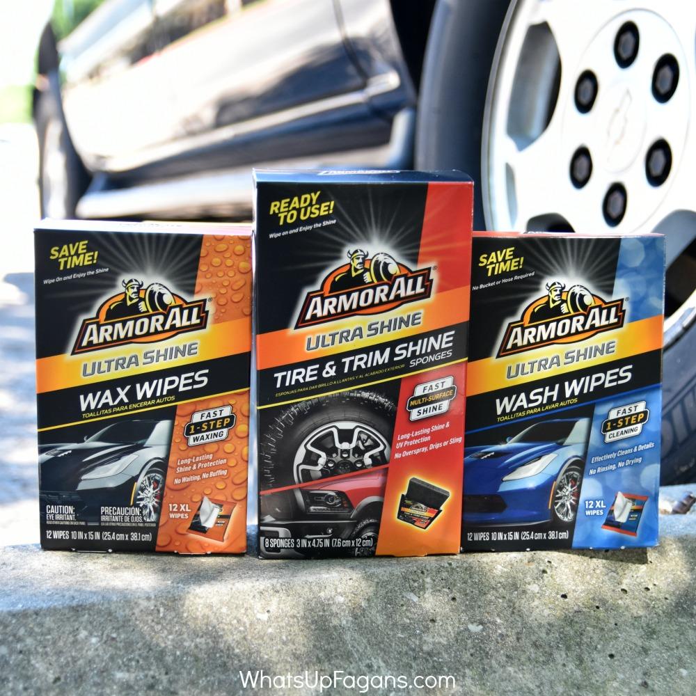 Armor All Ultra Shine Wax Wipe, Ultra Shine Wash Wipes, Ultra Shine tire and trim shine