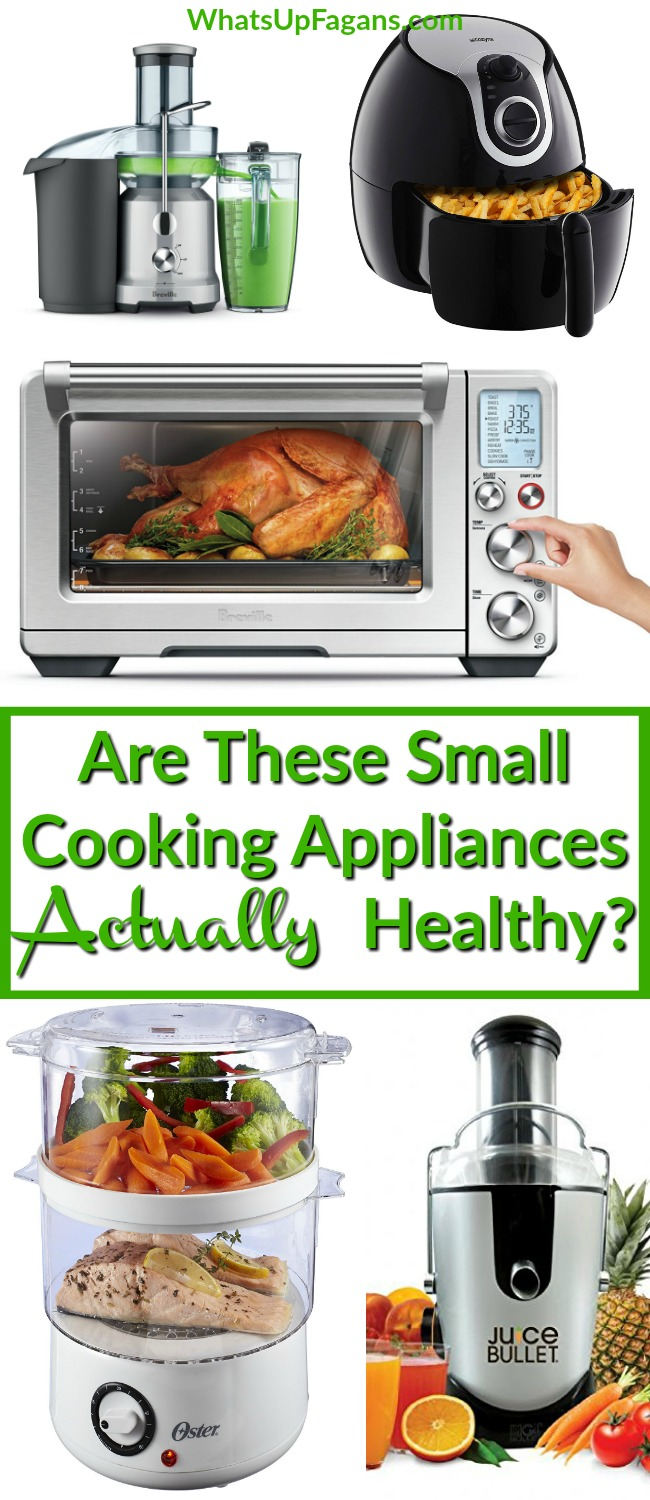 Great review of supposedly healthy kitchen appliances! The Instant Pot, Food Steamer, Smart Oven, Air Fryer, and Juicer! Which of these small kitchen gadgets do you own? Are they worth the money for the health benefits?