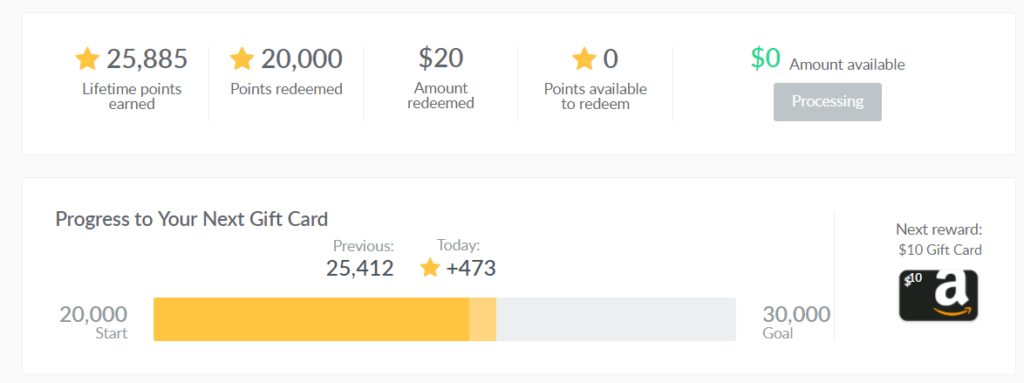 dealspotr points and rewards