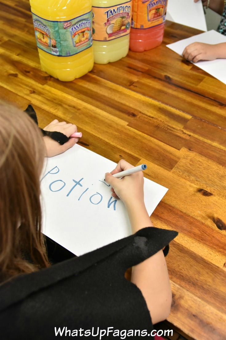 superhero potion signs for pretend play