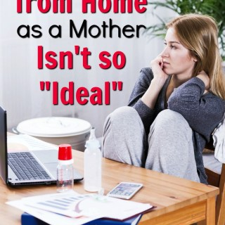 Work at home mom life is the best of both worlds, except it isn't always as picture perfect as you thought. Real look into a WAHM, WFHM life with kids.