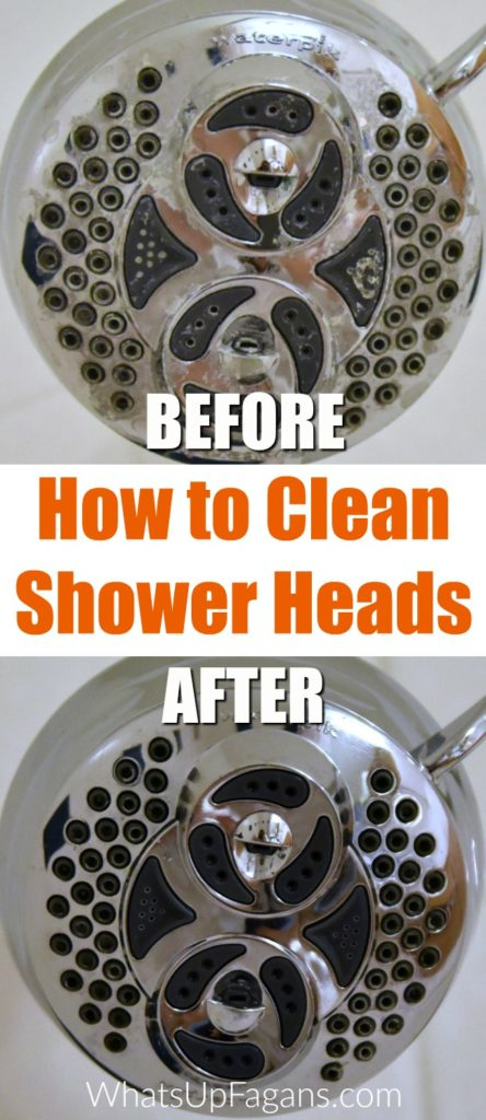 How to clean shower head in your bathroom with a vinegar soak | cleaning tip hack tutorial | DIY natural green cleaning