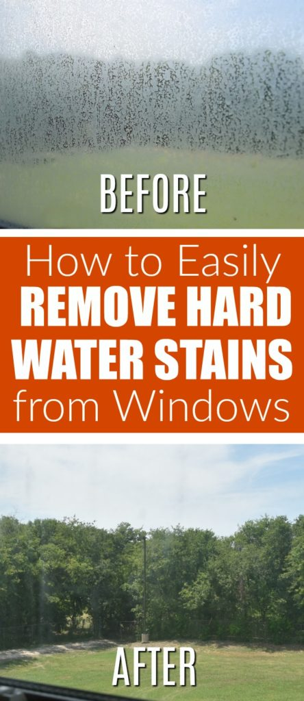 how to remove hard water stains from windows