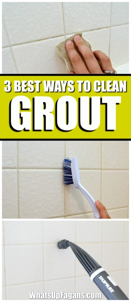 best way how to clean grout in your bathroom shower tiles. Cleaning tip. Baking soda. Vinegar. Steam Cleaner. Magic Eraser.