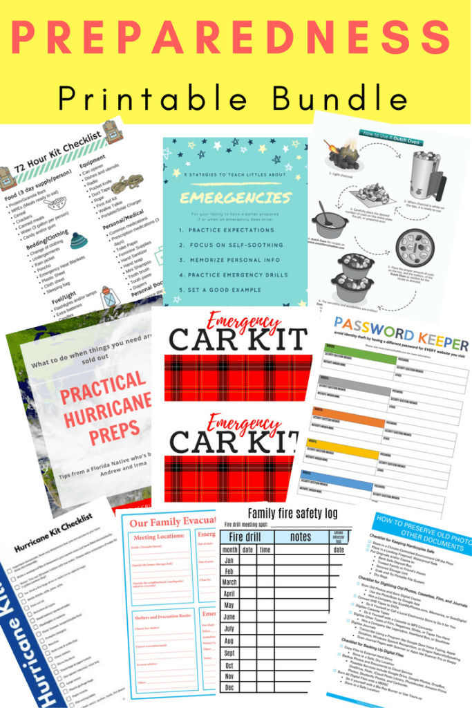 FREE Preparedness Printable Bundle - Emergency Preparation for Families