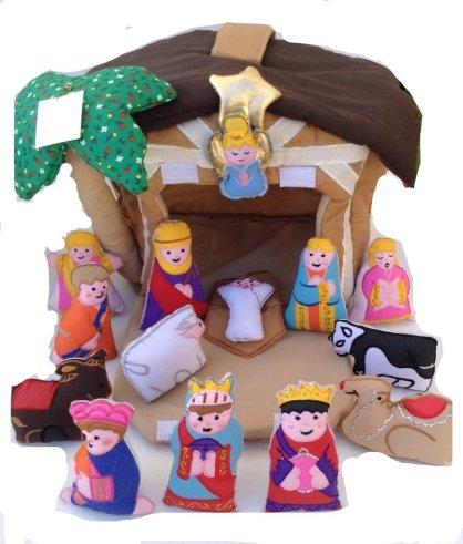 plush nativity set - finger puppet nativity
