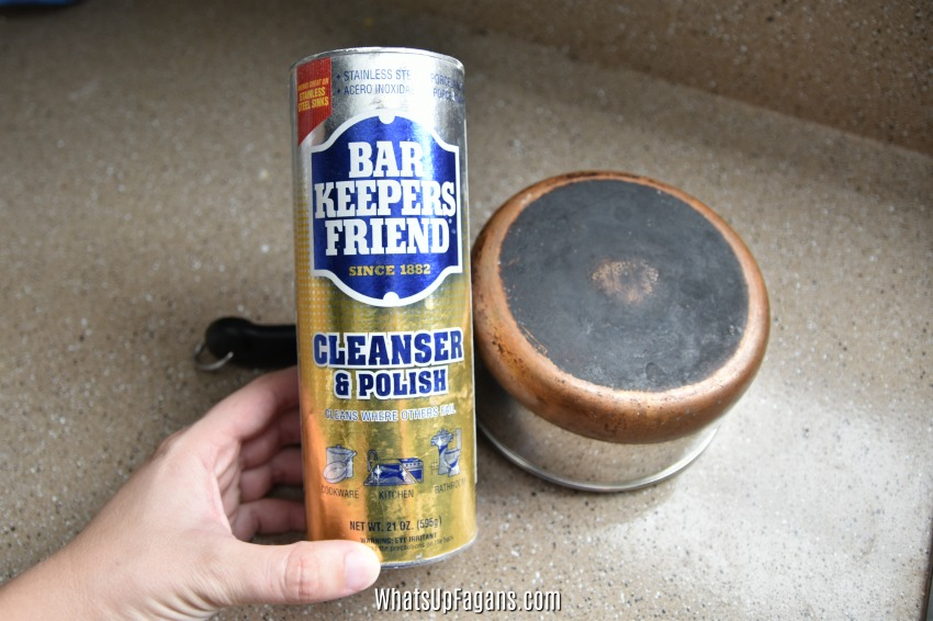 how to clean burnt pot bottom