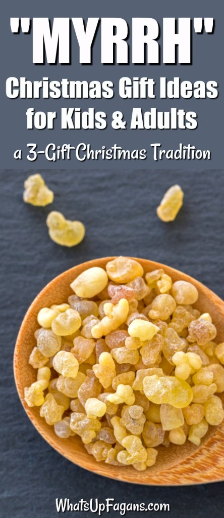 gold frankincense and myrrh Christmas gifts - 3 gifts for Christmas tradition