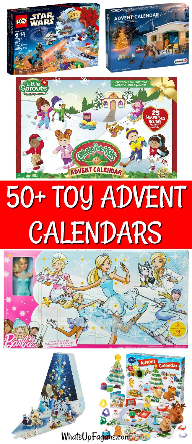 Countdown to Christmas with a toy advent calendar for kids from babies to grade school. #holidays #25daysofchristmas #advent #Christmas #Christmasadvent #toys #presents #gifts #giftsforkids