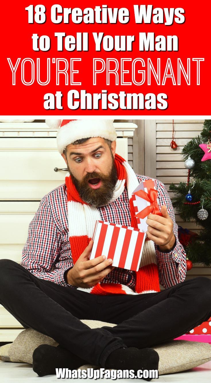 Christmas pregnancy announcement - holiday pregnancy announcement ideas