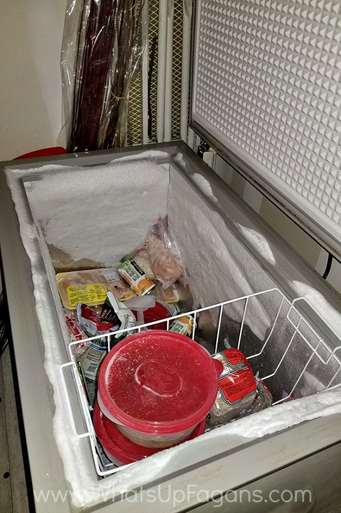 cleaning deep freezer