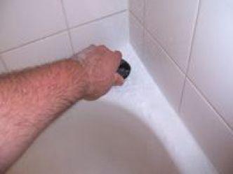 Scrubbing a bathtub