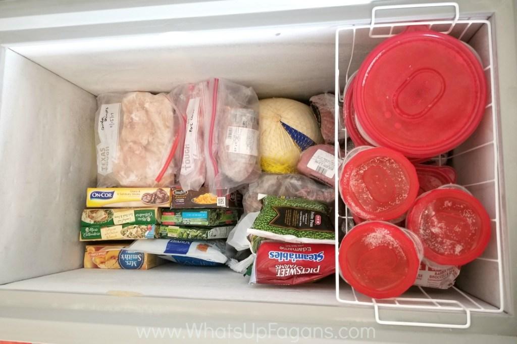 best way to organize a chest freezer
