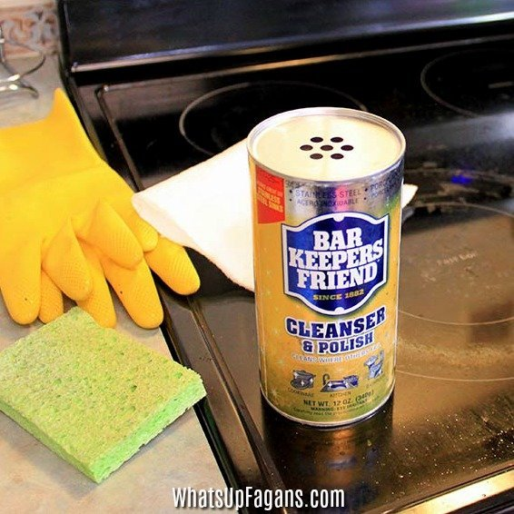 best way how to clean glass cooktop