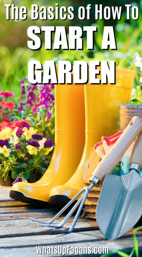 basic gardening tools - how to start gardening