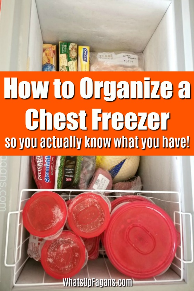 organize chest freezer